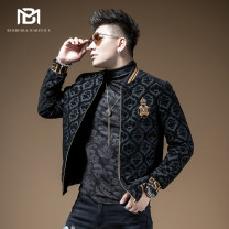 Jacket Brady Melville Fashion City black 46 / S / 165 48 / M / 170 50 / L / 175 52 / XL / 180 54 / XXL / 185 56 / XXXL / 190 58 / XXXXL / 195 for accurate code selection, please consult customer service thick Self cultivation Other leisure winter Long sleeves Wear out Baseball collar youth routine