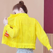 short coat Summer 2021 S M L XL 2XL White yellow Long sleeves have cash less than that is registered in the accounts Thin money singleton  Straight cylinder Versatile routine stand collar zipper Solid color 18-24 years old Ximu 96% and above Bandage other Other 100% Pure e-commerce (online only)
