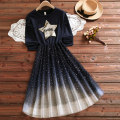 Dress Autumn 2020 Navy Blue S M L XL XXL longuette Sweet Under 17 Extravagant HS200907SS11 More than 95% cotton Cotton 95% polyester 5% college Exclusive payment of tmall
