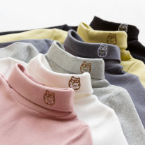 T-shirt Jamie 100cm 110cm 120cm 130cm 140cm neutral winter Long sleeves High collar Korean version No model nothing cotton Solid color Cotton 96.6% polyurethane elastic fiber (spandex) 3.4% Class B Winter of 2019 Chinese Mainland Zhejiang Province Wenzhou City