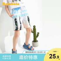 trousers Bala male 140cm 150cm 160cm 165cm 170cm 175cm Color: white blue spring and autumn shorts leisure time No model Casual pants Leather belt middle-waisted chemical fiber Don't open the crotch Polyester 100% Class B Summer 2020 Chinese Mainland