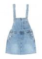 Dress Spring 2020 Light blue and white XL,L,M,S commute High waist other A-line skirt straps Type A JJ190813-75 91% (inclusive) - 95% (inclusive) Denim cotton