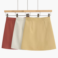skirt Autumn of 2019 S,M,L Yellow, black, red commute High waist 25-29 years old 51% (inclusive) - 70% (inclusive) other Zipper, belt
