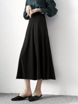 skirt Winter 2020 S,M,L,XL,XXL black longuette Versatile High waist A-line skirt Solid color Type A 25-29 years old XZ-AA-Q25 other Other / other 251g / m ^ 2 (including) - 300g / m ^ 2 (including)