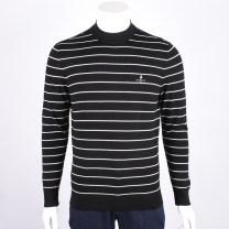 T-shirt / sweater Biem.l.fdlkk/bien leffin Fashion City white 95(165/88A)(S),100(170/92A)(M),105(175/96A)(L),110(180/100A)(XL),115(185/104A)(XXL),120(190/108A)(3XL),125(195/112A) routine Socket Crew neck Long sleeves autumn Straight cylinder 2017 Wool 100% Business Casual routine stripe