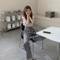 Women's large Summer 2020, spring 2020 lattice S (below 90 kg), m (90-100 kg), l (100-120 kg), XL (120-140 kg), 2XL (140-160 kg), 3XL (160-180 kg), 4XL (180-200 kg recommended) trousers singleton  commute lattice Korean version other 18-24 years old trousers