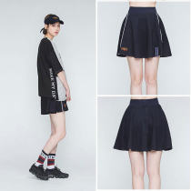 skirt Summer of 2018 S M L White black Short skirt Versatile Natural waist A-line skirt Type A 18-24 years old eighteen thousand and forty-seven