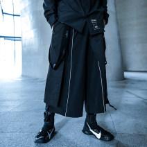 Casual pants ENshadower Youth fashion black M,L,XL,2XL routine trousers Other leisure easy teenagers 2019 Polyamide fiber (nylon) 90% polyurethane elastic fiber (spandex) 10%