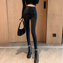 Jeans Spring 2021 Blue black S M L XL Ninth pants High waist Knickerbockers 18-24 years old Good core Other 100% Pure e-commerce (online only)