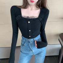 T-shirt White black S M L XL Winter 2020 Long sleeves square neck Self cultivation Regular routine commute cotton 96% and above 18-24 years old youth Solid color Good core XDH290 Cotton 100% Pure e-commerce (online only)