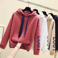 Sweater / sweater Winter of 2018 M L XL XXL Collection Plus purchase gift Long sleeves routine Socket singleton  Plush Hood easy commute routine letter 18-24 years old 96% and above Rose in the garden Korean version other Cotton liner Other 100% Pure e-commerce (online only)