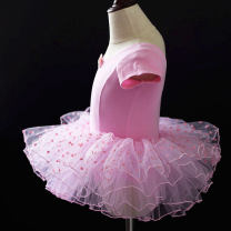 Children's performance clothes Pink, black, pink long sleeves female L 90-100, XL 100-110, 2XL 110-120, 3XL 120-130, 4XL 130-140, 5XL 140-150, 6xl Other / other W113 Ballet Cotton 95% polyurethane elastic fiber (spandex) 5%