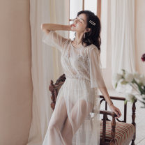 Split swimsuit Rong Lang Si Off white XL,L,M Triangle swimsuit With chest pad without steel support Spandex, others female