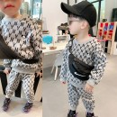 suit Other / other Grey Spot, grey pre-sale 2-3 days to the warehouse 80cm,90cm,100cm,110cm,120cm male spring and autumn leisure time Long sleeve + pants routine There are models in the real shooting Socket nothing Cartoon animation cotton Expression of love