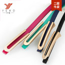 Belt / belt / chain Double skin leather Rose red brown cyan blue dark brown black female Waistband Simplicity Single loop Youth, middle age and old age Geometric pattern soft surface 0.9cm alloy alone Yeko c552 112cm Autumn 2020