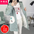 short coat Spring of 2018 S M L XL XXL Long sleeves Medium length thickening singleton  easy routine Hood Single breasted letter 18-24 years old Social filmmaker 51% (inclusive) - 70% (inclusive) Button printing cotton Cotton 68% polyester 32% Pure e-commerce (online only)