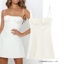 Dress Summer 2021 Off white S,M,L Short skirt singleton  Sleeveless street Solid color camisole 704- Europe and America
