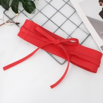 Belt / belt / chain Pu (artificial leather) Red, khaki, black, Navy, coffee, off white female Waistband Double loop youth 7cm Thousand Jin source