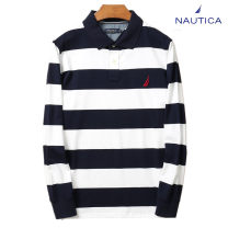 Polo shirt Nautica / nodica Business gentleman routine S,M,L,XL,2XL,3XL standard business affairs spring Long sleeves Business Casual routine Cotton 100% 2020 Solid color cotton No iron treatment Embroidery 90% (inclusive) - 95% (inclusive)