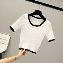 T-shirt White black S M L Summer 2020 Short sleeve Crew neck Self cultivation have cash less than that is registered in the accounts commute other 96% and above 18-24 years old Color matching Beauty of cotton Other 100% Pure e-commerce (online only)