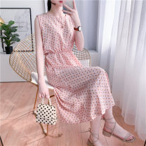 Lace / Chiffon Summer 2020 M XXL L XL Sleeveless commute Socket singleton  Self cultivation Medium length Crew neck other 18-24 years old Charming catkins XGMT95171 Korean version Other 100% Pure e-commerce (online only)