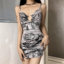 Dress Spring 2021 grey S,M,L Short skirt singleton  Sleeveless street other High waist other other Irregular skirt other camisole 18-24 years old Type A Backless, lace up, stitching, bandage, make old K21D00008 81% (inclusive) - 90% (inclusive) other polyester fiber Europe and America