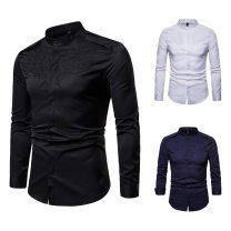 shirt other Others S,M,L,XL,2XL White, black, navy routine stand collar Long sleeves standard Other leisure autumn