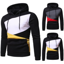 Sweater Youth fashion WSGYJ Black, white, yellow, black, grey, red S,M,L,XL,2XL Color block Socket routine Hood autumn easy leisure time youth Youthful vigor routine Fleece  Polyester 90% cotton 10% cotton Arrest line washing More than 95% Side seam pocket