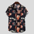 shirt Youth fashion Others M,L,XL,2XL,3XL,4XL,5XL Graph color Thin money square neck Short sleeve Self cultivation Other leisure summer teenagers Youthful vigor 2020 Broken flowers Color woven fabric washing cotton Arrest line shape memory  More than 95%