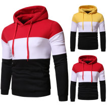 Sweater Youth fashion WSGYJ Yellow white black, red white black S,M,L,XL,2XL Geometric pattern Socket routine Hood autumn easy leisure time teenagers Youthful vigor routine polyester cotton Polyester 90% cotton 10% cotton Color matching washing More than 95% Side seam pocket