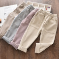 trousers A bang rabbit female 100cm 110cm 120cm 130cm 140cm Light gray Khaki off white Lavender summer trousers Korean version No model Harlem Pants / knickerbockers Leather belt middle-waisted other Don't open the crotch Other 100% ABT-01070023 Class B Spring 2020 Chinese Mainland Shandong Province