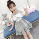 Dress female English craftsman Other 100% summer princess Short sleeve Broken flowers Chiffon Splicing style Class B Summer 2021 3 years old, 4 years old, 5 years old, 6 years old, 7 years old, 8 years old, 9 years old, 10 years old, 11 years old, 12 years old, 13 years old Chinese Mainland