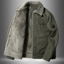 Jacket Other / other Fashion City M,L,XL,2XL,3XL,4XL,5XL,6XL Plush and thicken Extra wide Travel? Four seasons Long sleeves Wear out Lapel Military brigade of tooling youth routine Single breasted 2020 Cloth hem washing Loose cuff camouflage Seldingham badge Cover patch bag cotton