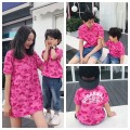 Parent child fashion Men's Short Sleeve T-Shirt , women's dress (quick delivery in stock!) A family of three Female, male, neutral I love hysteric 90cm, 100cm, 110cm, 120cm, 130cm, 140cm, 150cm, mom s, mom m, Dad L, Dad XL summer solar system routine Cartoon animation cotton M, S L,XL