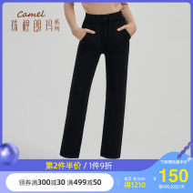 Casual pants W0w1y8119, pure black w0w1y8119, Navy S M L XL Autumn 2020 trousers Straight pants Natural waist W0W1Y8119 Camel Polyester 100% Same model in shopping mall (sold online and offline)