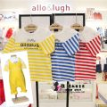 T-shirt summer leisure time No model in real shooting nothing Cotton 100% A18D2TS103 Class A Sweat absorption neutral allo&lugh 12 months, 18 months, 2 years, 3 years old cotton stripe three quarter sleeve Crew neck 90cm,100cm,110cm,120cm