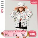 Plain coat elle kids female 110cm 120cm 130cm 140cm 150cm 160cm White cloth spring and autumn leisure time Single breasted There are models in the real shooting routine nothing other cotton other EDD102016 Cotton 100% Class B Spring 2021