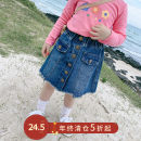 skirt 19Q216 Pudding Haru Other 100% 2 years old, 3 years old, 4 years old, 5 years old, 6 years old, 7 years old female Solid color spring and autumn Denim skirt skirt Korean version Denim other Blue, blue