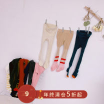 trousers Pudding Haru female spring and autumn trousers Korean version There are models in the real shooting Leggings Leather belt middle-waisted other Don't open the crotch Other 100% other 2 years old, 3 years old, 4 years old, 5 years old, 6 years old, 7 years old