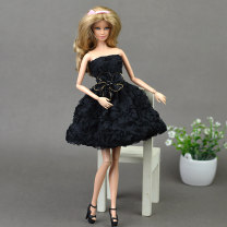 Doll / accessories 3, 4, 5, 6, 7, 8, 9, 10, 11, 12, 13, 14, 14 and above parts Other / other China Short skirt, without doll and shoes Light gray, black, brown < 14 years old other parts Fashion cloth other clothing
