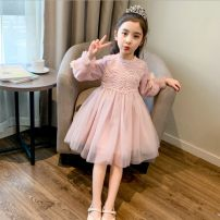 Dress Spring and autumn without velvet female Other / other 100cm,110cm,120cm,130cm,140cm,150cm,160cm Polyester 100% spring and autumn princess Long sleeves Solid color cotton A-line skirt Class B 2, 3, 4, 5, 6, 7, 8, 9, 10, 11, 12, 13, 14 years old Chinese Mainland Zhejiang Province Huzhou City
