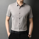 shirt Fashion City Rvednbau / redenburg 165/S 170/M 175/L 180/XL 185/2XL 190/3XL Light camel white blue gray black Thin money Pointed collar (regular) Short sleeve Self cultivation Other leisure summer youth Business Casual 2021 Solid color Summer 2021 No iron treatment Button decoration