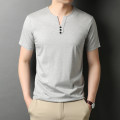 T-shirt Fashion City thin 165/S 170/M 175/L 180/XL 185/2XL 190/3XL Rvednbau / redenburg Short sleeve V-neck standard Other leisure summer youth routine tide Summer 2021 Solid color Button decoration No iron treatment Pure e-commerce (online only)