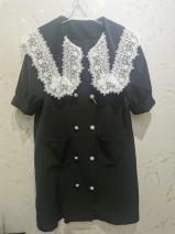 Dress Summer 2021 black M,L,XL Mid length dress Short sleeve