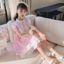 Dress Light green, pink female Other / other 110cm,120cm,130cm,140cm,150cm,160cm Other 100% summer princess Short sleeve other Pure cotton (100% cotton content) other Class B 14 years old Chinese Mainland