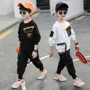 suit Other / other White, black neutral spring and autumn Korean version Long sleeve + pants 2 pieces routine There are models in the real shooting Socket 7 years old Chinese Mainland