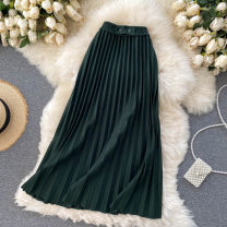 skirt Autumn 2020 Average size Dark green, dark grey, black Middle-skirt commute High waist A-line skirt other Type A 25-29 years old 31% (inclusive) - 50% (inclusive) other other Korean version