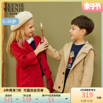 Windbreaker gules 110 120 130 140 150 teenieweenieKIDS spring and autumn leisure time nothing Single breasted Polyester 55.9% cotton 44.1% other TKJT93851B Class C Other 100% Autumn of 2019