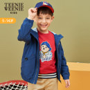 Jacket / leather teenieweenieKIDS male blue 110cm 120cm 130cm 140cm 150cm other leisure time spring and autumn routine No detachable cap Zipper shirt TKJJ93802A Crew neck Class C Polyester 100% Autumn of 2019