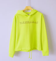 Sweater / sweater Autumn of 2019 Fluorescent green, bright orange, light grey XS,S,M,L,XL Long sleeves have cash less than that is registered in the accounts Socket singleton  Plush Hood 1NN0JL1204